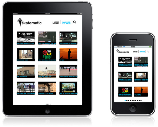 Skatematic Mobile Application